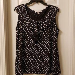 F.L. 18/20 Black & White Polka Dot Shirt